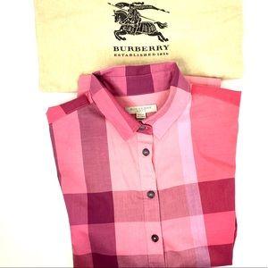 Burberry spring women's red shirt plaid preppy